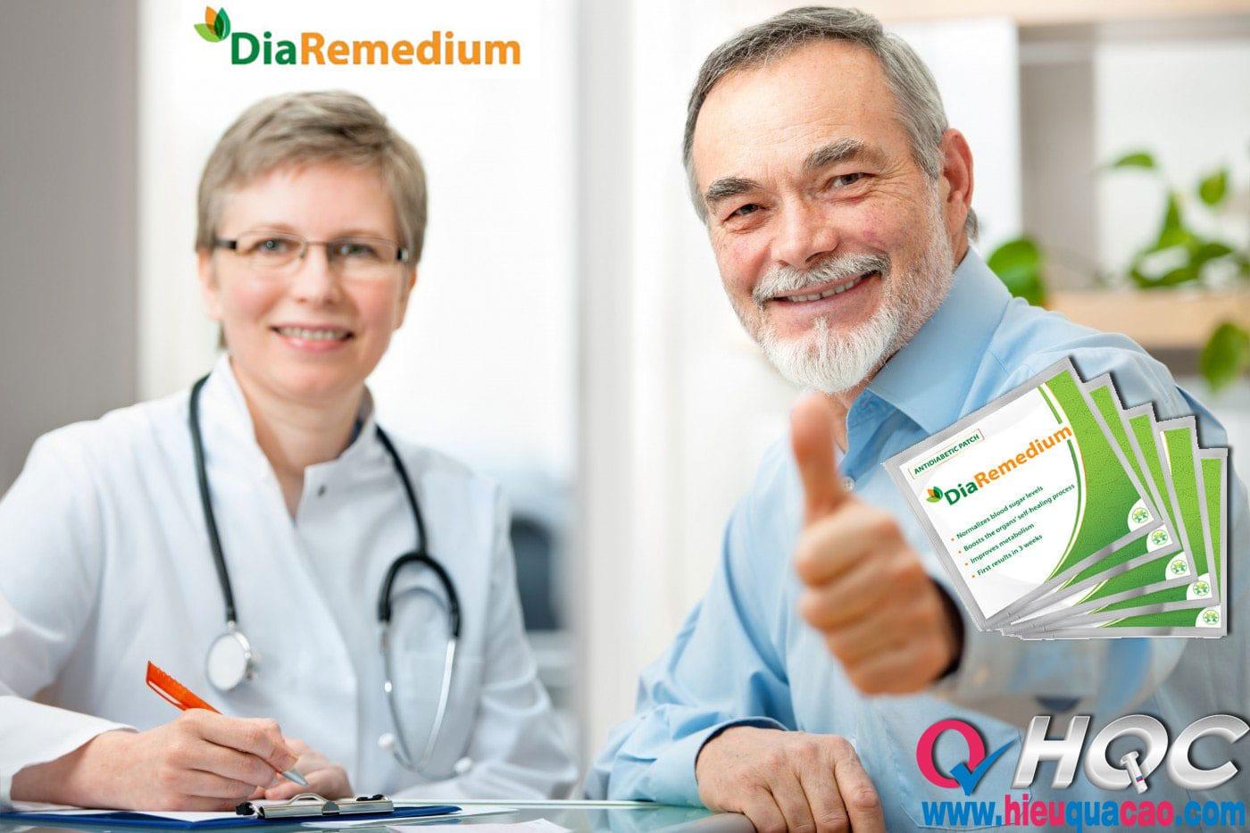 Cao dán DiaRemedium điều trị bệnh tiểu đường hiệu quả