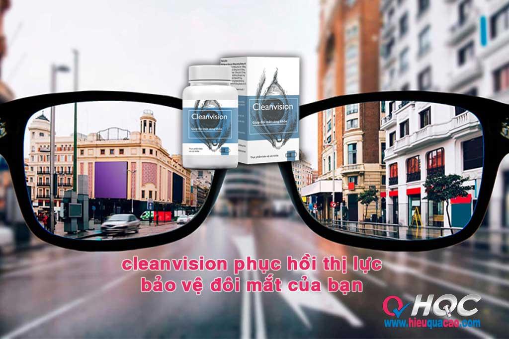 CleanVision phục hồi thị lực bảo vệ đôi mắt của bạn
