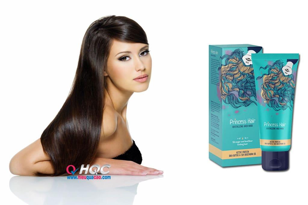 Mặt nạ dưỡng tóc princess hair cho mái tóc dày, khỏe, óng ả và mượt mà