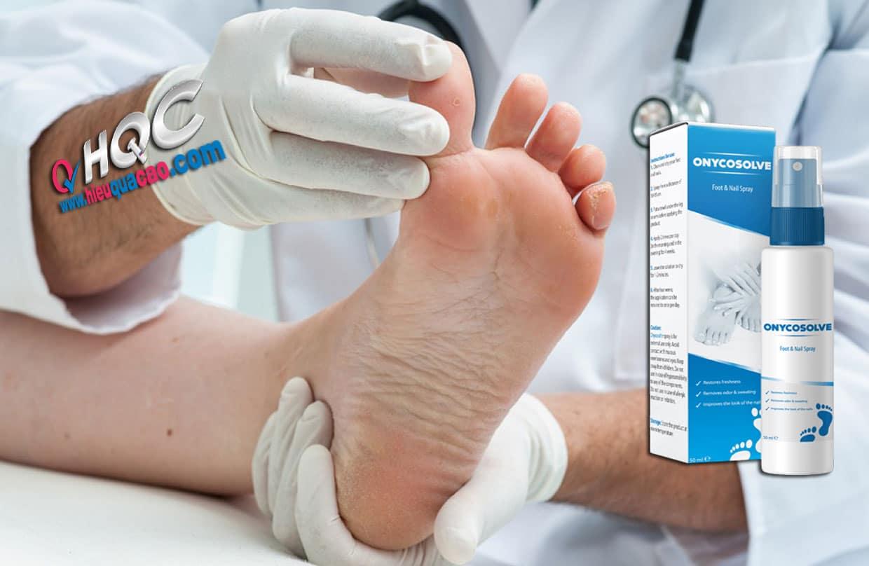 Thuốc xịt OnycoSolve điều trị nấm chân, nấm móng chân, mùi hôi chân