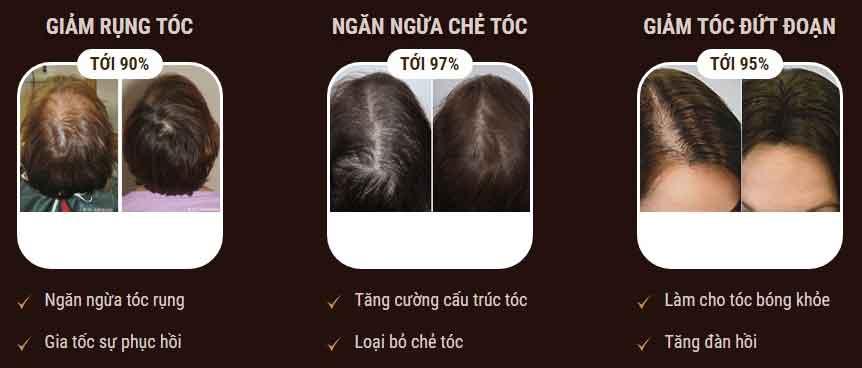 Tác dụng dưỡng tóc princess hair